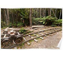 Logging tramway Poster