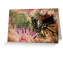 Monarch Butterfly on Top of Flower Greeting Card