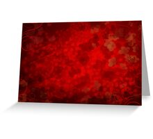 Red valentines background Greeting Card