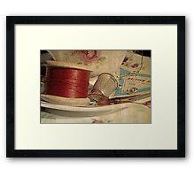 Vintage cotton reel Framed Print