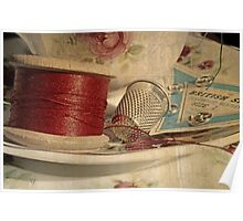 Vintage cotton reel Poster