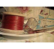 Vintage cotton reel Photographic Print