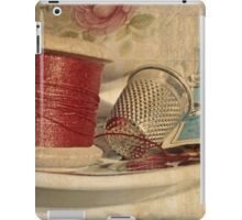 Vintage cotton reel iPad Case/Skin
