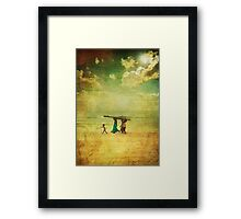 Havin' a wheel of a time... Framed Print