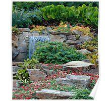 Tropical Rock Garden Poster