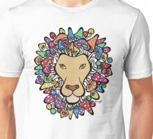 Lion with mane of mushrooms Unisex T-Shirt