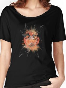 Orange Heart Women's Relaxed Fit T-Shirt
