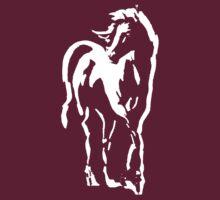stallion on dark tee by ralphyboy