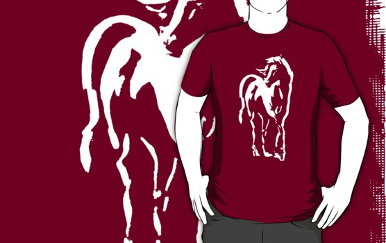 stallion on dark tee by ralphyboy