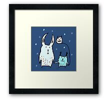 Two Little Monsters Framed Print