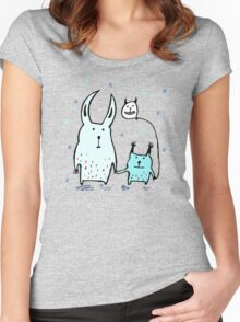 Two Little Monsters Women's Fitted Scoop T-Shirt