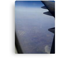 Air France Flight Over Russia 2012 Canvas Print