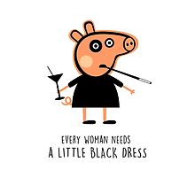 Peppa In Little Black Dress by povalyaeva