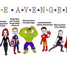 The Avengers Line up by hazelmead
