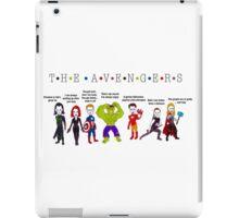The Avengers Line up iPad Case/Skin