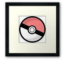 Pokeball - Catch them all! Framed Print