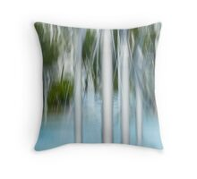 Water spouts on the lagoon Throw Pillow