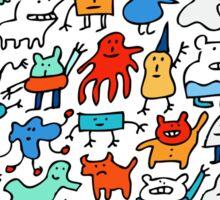 Mad Monster Friends Sticker