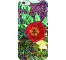 Flower Tulip drawing iPhone Case/Skin