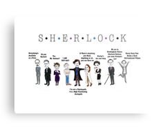 Sherlock Line up Metal Print