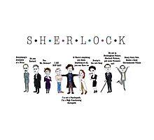Sherlock Line up Photographic Print