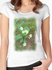 primrose Flower Women's Fitted Scoop T-Shirt