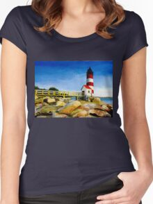 The Lighthouse Women's Fitted Scoop T-Shirt