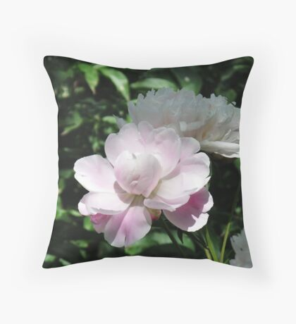 Chinese herbaceous peony Throw Pillow