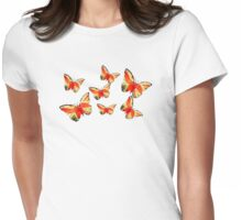 Lady Butterfly Womens Fitted T-Shirt