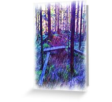 Forest Resting place Greeting Card