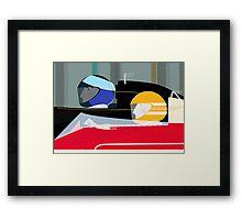 Retro Racing Car Drivers Framed Print