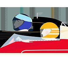 Retro Racing Car Drivers Photographic Print