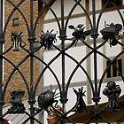 Globe Theatre, beautiful gate, detail by BronReid