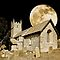 The Old Church plus moon by Anthony Hedger Photography