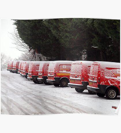 Snow Post Poster