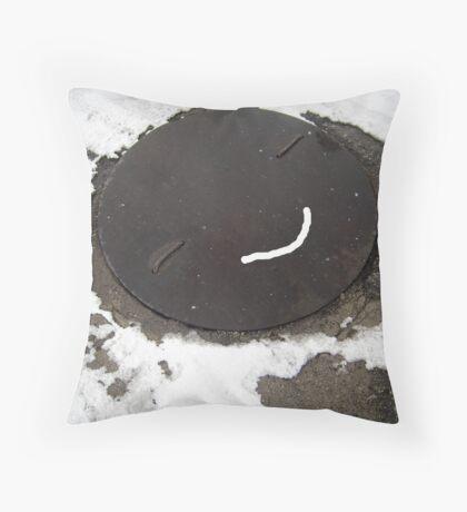A smile! Throw Pillow