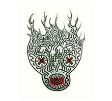 keith haring skull Art Print