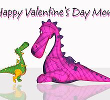 Valentine's Day For Mom With Cute Dragon's  by Moonlake