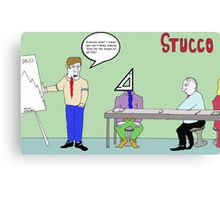 Stucco Corporation Canvas Print