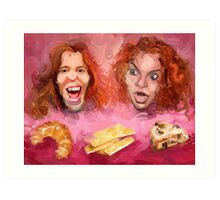 Shaun White and Carrot Top with Delicious Pastries Art Print