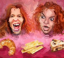 Shaun White and Carrot Top with Delicious Pastries by Michael Jaecks