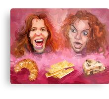 Shaun White and Carrot Top with Delicious Pastries Metal Print