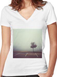 Misty Tree Women's Fitted V-Neck T-Shirt
