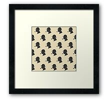 Sherlock Holmes Silhouette Pattern Framed Print