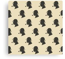 Sherlock Holmes Silhouette Pattern Canvas Print