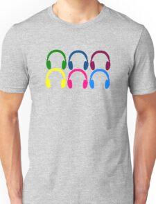 Colorful Headphones Unisex T-Shirt