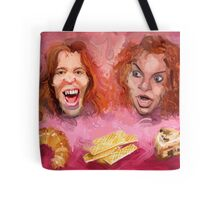 Shaun White and Carrot Top with Delicious Pastries Tote Bag