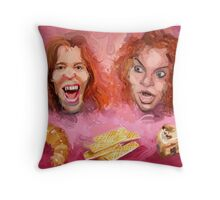 Shaun White and Carrot Top with Delicious Pastries Throw Pillow