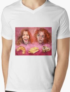 Shaun White and Carrot Top with Delicious Pastries Mens V-Neck T-Shirt