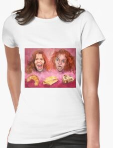 Shaun White and Carrot Top with Delicious Pastries Womens Fitted T-Shirt